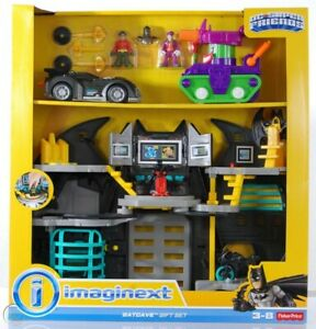 Brand New In Box Fisher Price Imaginext DC Super Friends Batcave Gift Set