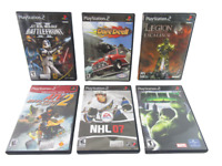Lot of 6 Playstation 2 Games PS2 Starwars Hulk NHL07 ATV Daredevil Legion