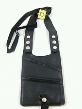 GENEIUN LEATHER SHOULDER HOLSTER MONEY BAG BELT WITH PAIR OF UNION JACK CAR FLAG