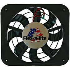 Fan Electric 12^ Single Shrouded Lo-Profile S-Blade Puller Fan w/ Contro fits 19