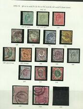 Page of 1902/10 De La Rue Issues Sg 215-318, Mounted Mint & used.