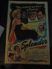 Joel Mcrea Miriam Hopkins Splendor Reissue 1944 One-Sheet Movie Poster N2435