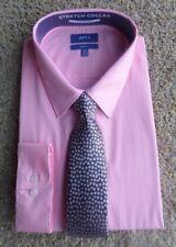 APT 9 MEN'S DRESS SHIRT & TIE Candy Pink Slim  FIT XXL 18.5-19 34/35 NWT ($50)