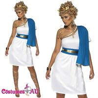 Ladies ROMAN BEAUTY Costume Cleopatra Roman Toga Robe Greek Goddess Fancy Dress