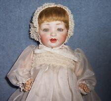 "PRETTY!~ Antique 14.5"" German Baby Doll ~Kestner~ Bisque Head & Composition Body"