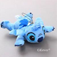 Lilo & Stitch Plush Keychain Lying Stitch Stuffed Pendant Doll Toy 5'' Kids Gift