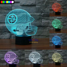 NFL Pittsburgh Steelers 3D Night Light Free Ship 7 Colors Change LED Tablle Lamp