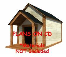 """36"""" x 60"""" Dog House Plans - Gable Roof - Pet Size Up To 100 lbs - Large Dog - 02"""