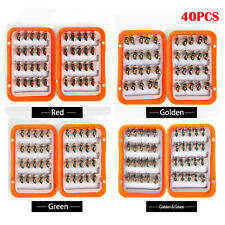 40Pcs 8# Flies Fly Fishing Lures Kit Dry Flies Set Floating Flies Hooks Baits