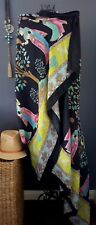 Stunning Long Wrap l Shawl l Cape l Scarf with Tassles Crystals & Includes Pin!