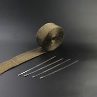 5m Titan Hitzeschutzband  breit Auspuff Band bis 1400° Heat Wrap Krümmer NEU~