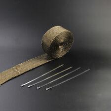 5m Titan Hitzeschutzband 50 mm breit Auspuff Band bis 1400° Heat Wrap Krümmer