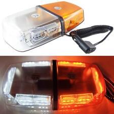 High Power White Amber 32 LED Flash Strobe Warning Roof Lamp Waterproof Light