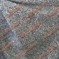 Stretch Confetti Fabric 58 inches Width By The Yard Silver