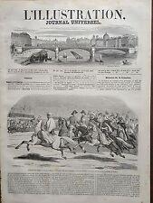 L'ILLUSTRATION 1845 N 153 LA GRANDE REVUE PASSEE PAR LE DUC DE NEMOURS, A PARIS