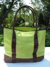 DESIGNER LADIES CHARTRUSE & BROWN BAG PURSE TOTE SHOULDER BAG