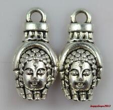 20pc 8x18mm Tibet silver Buddha's hand Jewelry finding Charm Pendant