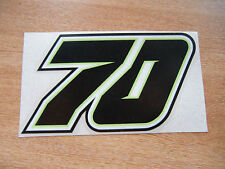 Michael Laverty # 70 raza número pegatina - 100mm Alto-MotoGP Bsb calcomanía * Negro