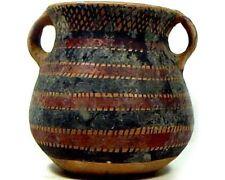 Ancien Néolithique (?) Peint Deux Poignée Argile Pot/Vase 2000BC