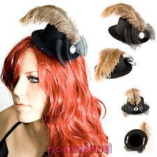 Cappello cappellino Burlesque NERO fiocco piume BH-15 424376c27683