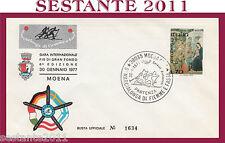 ITALIA FDC BUSTA UFFICIALE MARCIALONGA FIEMME E FASSA MOENA 1977 NATALE G757