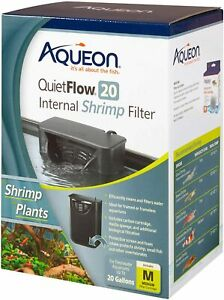 QUIETFLOW 20 INTERNAL SHRIMP FILTER by Aqueon - FOR SHRIMP AND PLANTS