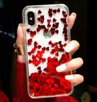 Glitter Quicksand TPU For iPhone X XR XS Max 6 7 8 Plus Liquid Cover Case Clear