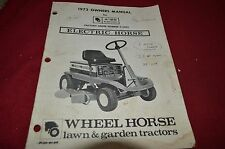 Wheel Horse A-80 Electric Riding Mower Lawn Tractor Operator's Manual BVPA