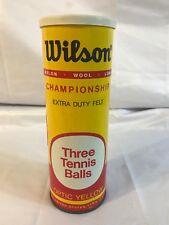 Wilson Championship Tennis Balls Vintage Unopened Can Optic Yellow Wool Dacron