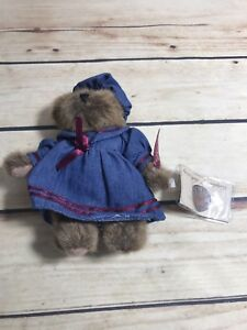 """RUSS BERRIE VINTAGE EDITION 6"""" BEAR PLUSH BROWN """"PENELOPE"""" COLLECTION #44702"""