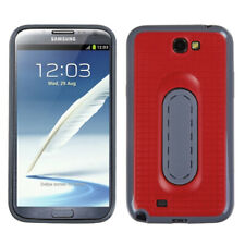 For Galaxy Note II T889/I605/N7100 Red Snap Tail Stand Protector Cover