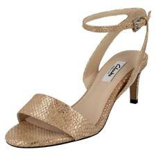 Sandalo gioiello con tacco medio (3,9-7 cm) 100% pelle per il mare da donna
