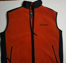 American Eagle Outfitters AE Performance Mens M Vest Fleece Zip Rust Orange