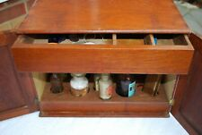 Antique rare collectable Apothecary Cupboard with drawer some original contents
