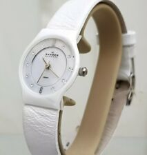 SKAGEN Ladies White Ceramic Watch RRP$171 (need Battery)