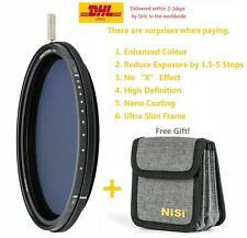 NiSi 55 58 62 67 72 77 82 95mm ND-VARIO Pro Nano 1.5-5stops Enhanced Variable ND