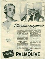 Publicité ancienne savon Palmolive 1925 issue de magazine signée à droite