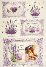 Rice Paper -Provence Lavender- for Decoupage Decopatch Scrapbook Craft