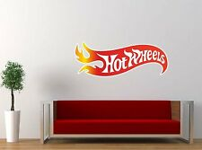 "Hot Wheels Racing Nascar Vinyl Decal Sticker 10""x25"" Wall Removable"