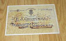 E J Churchill Gunmaker Gun Case Label unrestored Repo Accessories *