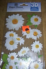 PAPER HOUSE 3D STICKERS, DAISIES, STDM-0119, NEW