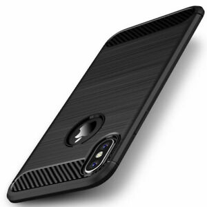 Carbon Fiber Slim Soft TPU Cover Case For iPhone 12 Mini 11 Pro Max Xs XR 6 7 8