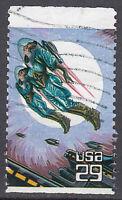 USA Briefmarke gestempelt 29c Space Fantasy / 318