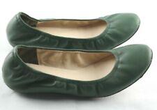 Delman Ballet Flats Womens Sz 8 Green Leather Slip On Shoes
