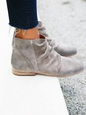 NEW Jeffrey Campbell Speir Light Gray Suede Ankle Boots Size 6 Slouchy
