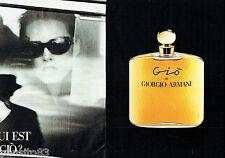 PUBLICITE ADVERTISING 016 1993 GIORGIO ARMANI  parfum femme Gio (2p)      080116