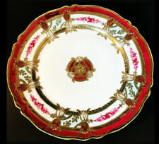 ROYAL CROCKERY NIPPON PLATE RUBY RED GOLD MORIAGE ANTIQUE RED ROSES 10""