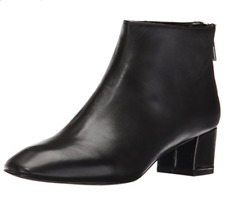 Nine West Anna Womens UK 3 US 5 Black Rear Zip Mid Block Heel New Ankle Boots