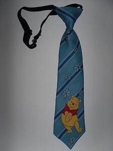 Kinderkrawatte*Winnie Puuh * Hellblau dunkel ge.* Pooh * Blumen*Krawatte*Schlips