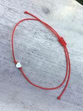 Mini Silver Heart High Quality Red cord Bracelet Protection Evil Eye Handmade